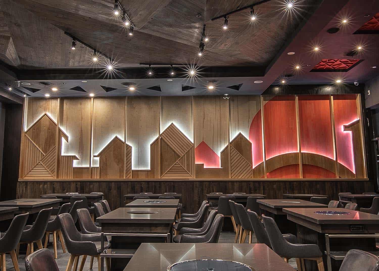 木制餐厅背景墙多伦多