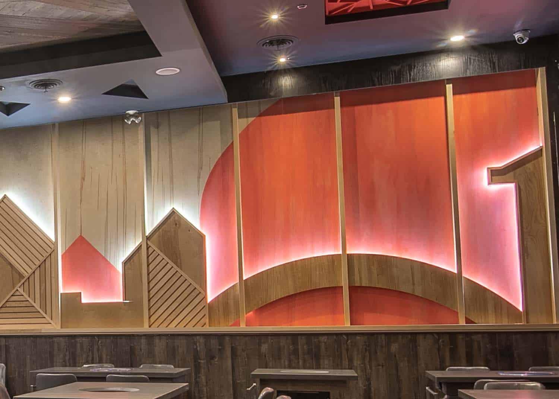 木制餐厅装饰墙