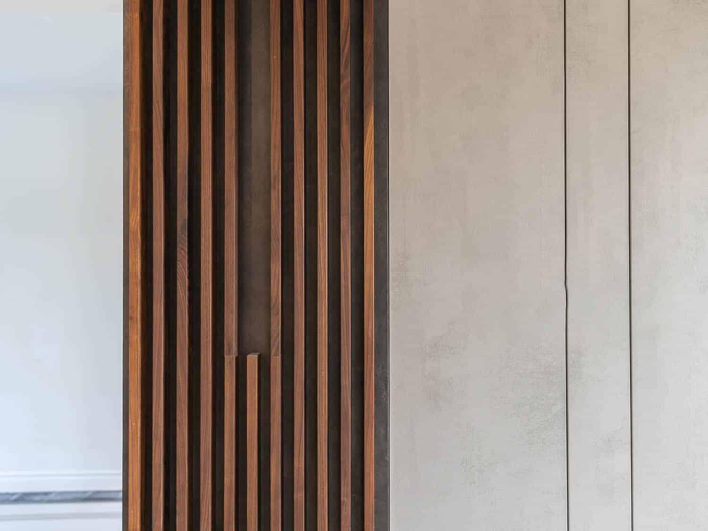 特制木格栅墙