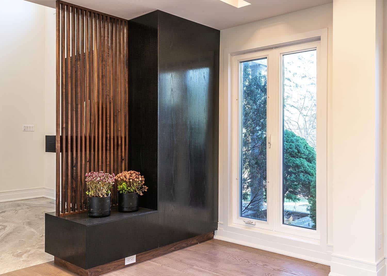 Vertical Wood Slat Walls