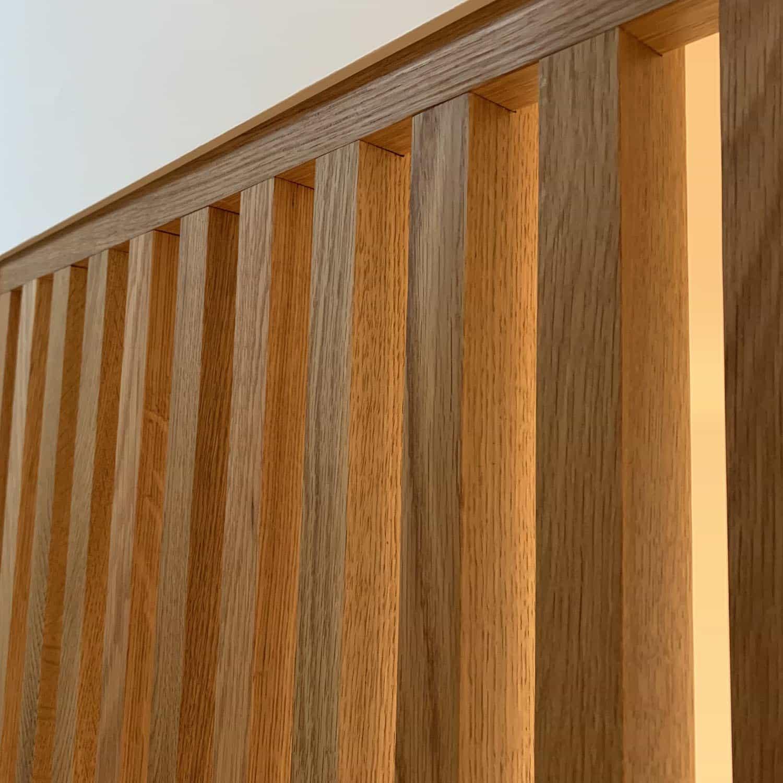 Vertical Wooden Slat Walls