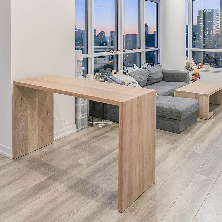 Wood Console Table Design