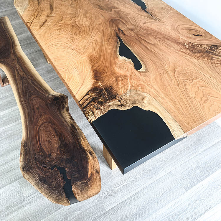 Wood Table and Bench Design