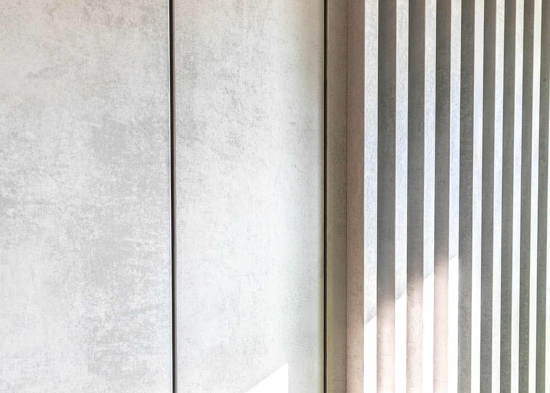 modern wood slat wall