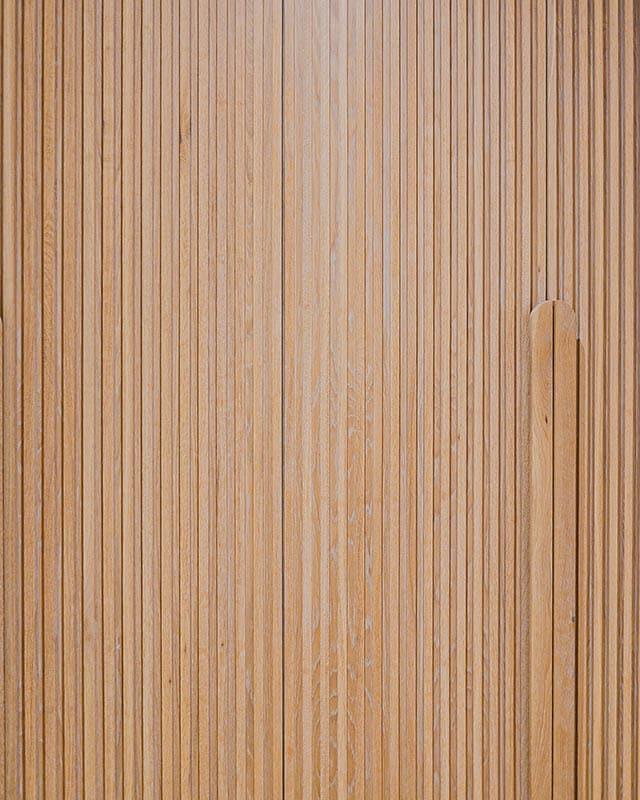 vertical wood slat door