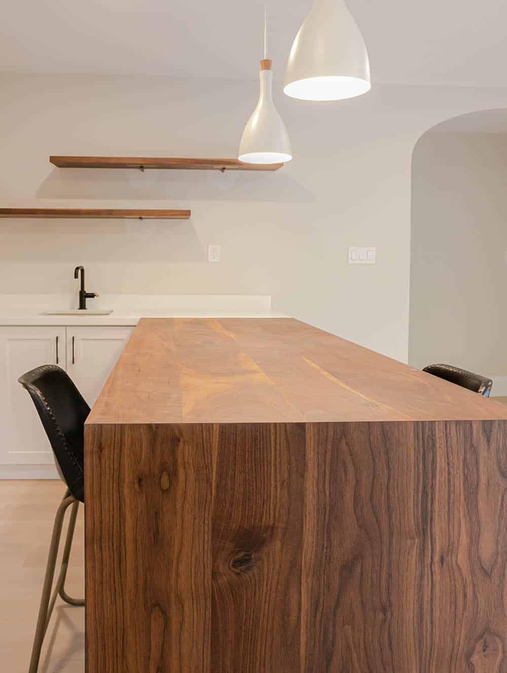 custom walnut countertop