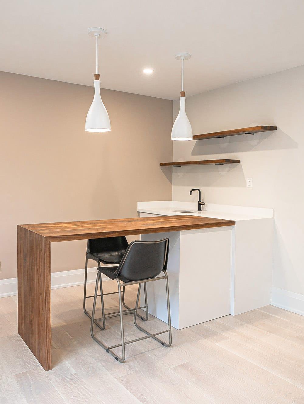 wood countertop kitchen island